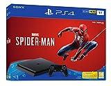PS4 Slim 1 To avec une manette sans fil DUALSHOCK et le jeu Spider-Man inclus, Pour maximiser votre expérience de jeu dans un format plus compact et à la capacité de stockage considérable Console rapide, silencieuse et à consommation réduite, Connect...