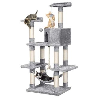 YAHEETECH-585-inches-Multi-Level-Cat-Tree-Condos-Stand-Furniture-Climber-Castle-with-Cat-Scratching-Posts-Plush-Perch-and-Hammock-for-KittensCats-and-Pets
