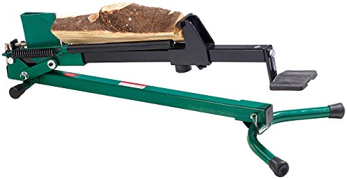 AGT Fuss Holzspalter: Stromloser Stahl-Holzspalter mit Fußbetrieb, 1,2 Tonnen Schlagkraft (Fußspalter)