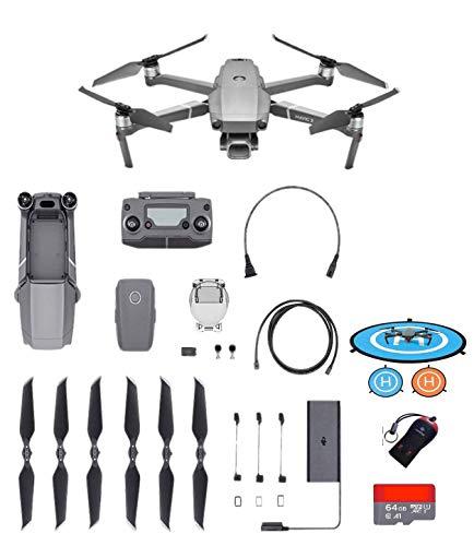 "DJI Mavic 2 Pro Drone Quadcopter with Hasselblad Camera HDR Video UAV Adjustable Aperture 20MP 1"" CMOS Sensor, Dlog-M Color Profile, 64GB Micro SD, Camrise USB Reader, 55CM Landing Pad (US Version)"