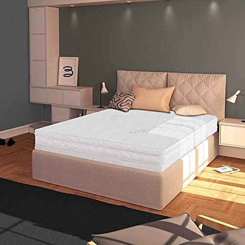 Baldiflex Materasso Matrimoniale 140x200 cm, Easy Silver Altezza 15 cm, Fodera in Silver Safe + Cuscino Omaggio