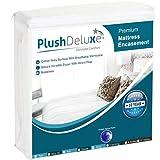 PlushDeluxe Premium 100% WaterproofMattress Encasement Hypoallergenic Without Vinyl, Breathable Soft Cotton Terry Surface (King 12''-15' Deep)