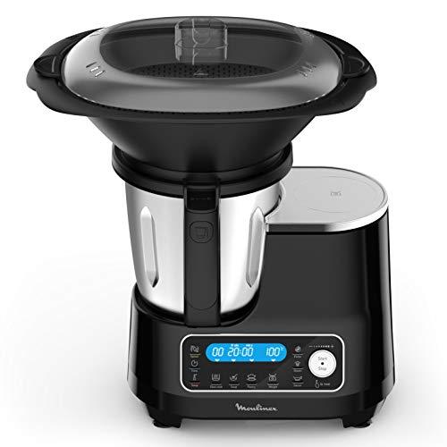 MOULINEX CLICKCHEF Robot Cuiseur multifonction5 programmes automatiques Robot cuisine compact 25fonctionsBalance cuisine intégrée Cuiseur vapeur Batteur Mélangeur 3,6L 1400W HF456810