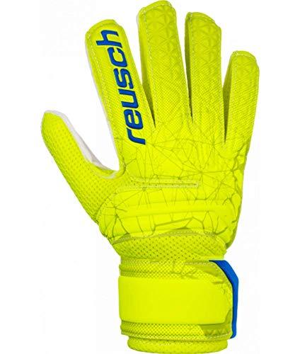 Reusch Kinder Fit Control Sd Open Cuff Torwarthandschuhe, lime/Safety yellow, 6 (L)