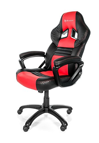 Aroza Monza Fauteuil Gamer, Faux Cuir, Rouge, 50 x 55 x 130 cm