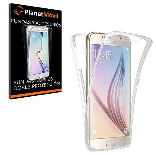 PLANETMOVIL Carcasa Compatible con Samsung Galaxy S7 Edge Funda DE Silicona Delantera + Trasera Doble 100% Transparente