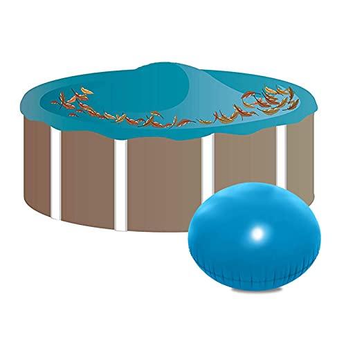 Coussin Gonflable pour Piscine en Hiver Oreillers D'hiver丨4 X 4 Ft Portables Oreiller d'air D'hivernage Flottant Durable pour Couverture De Piscine Hors Sol