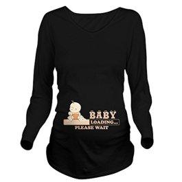 CafePress Baby Loading Long Sleeve Maternity Maternity Tee