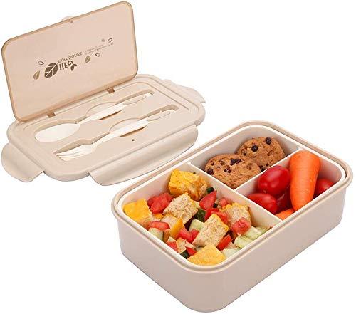 Caja de Bento con 3 Compartimentos,microondas y lavavajillas lunch box,Bento Box para...