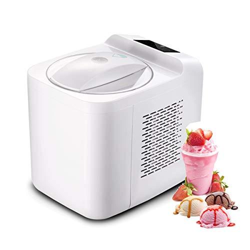 Speiseeisbereiter LJ Eiscreme Maschine 1L, Gelato Sorbet Tiefkühljoghurt, Maschine Abnehmbarer Mixing Paddle, Leicht zu bedienen, Kompakt Eismaschine