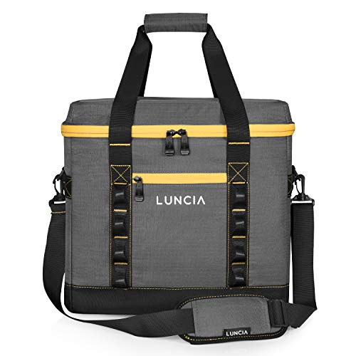 LUNCIA Collapsible Large Cooler Bag, 60-Can Sand-Free Insulated...