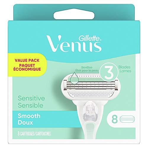 Gillette Venus Smooth Sensitive Women's Razor Blade Refills, 8 Count