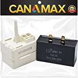 [Upgraded] Canamax W10613606 Refrigerator Compressor Start Relay and Capacitor Premium - Compatible with Whirlpool KitchenAid Kenmore Refrigerators - Replaces W10416065, PS8746522, 67003186, 67005560