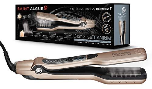 SAINT ALGUE Demeliss Titanium - Lisseur titanium a technologie vapeur- Doré/Noir