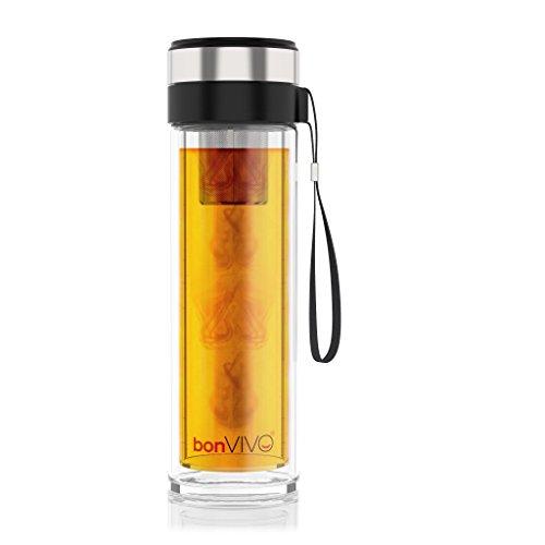 bonVIVO - Tasse à thé de Voyage Isotherme en Verre VitaliTEA avec...
