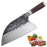 Promithi Couteau de Cuisine Professionnel, Couteau de Chef Serbe,...