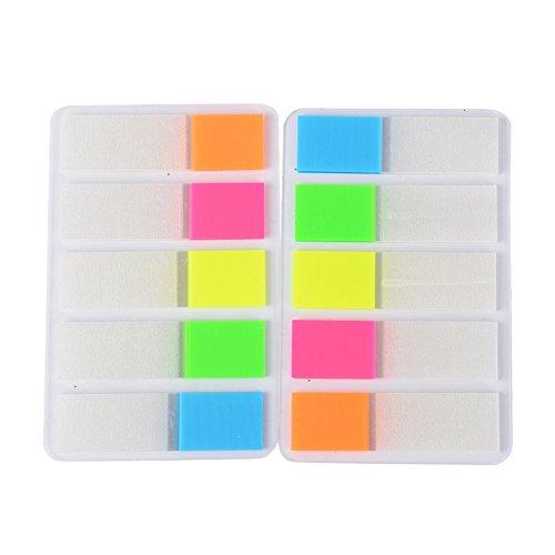 1600 Stück 16 Set Haftmarker Film Haftnotizen Haftstreifen Page Marker Tab Marker Index Tabs Index Sticky Notes Beschreibbar Bunt für Seitenmarkierung 44*12MM 5 Farbe