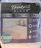 Beautyrest Black Luxury Mattress Pad, White Twin XL 400 Thread Count