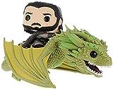 Funko POP Rides: Game of Thrones-Jon Snow w/Rhaegal Figurine de collection, 44448, Multicolore