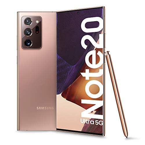 Samsung Galaxy Note20 Ultra 5G Smartphone, Display 6.9' Dynamic Amoled 2X, 3 Fotocamere, 256Gb Espandibili, Ram 12Gb, Batteria 4500Mah, Hybrid Sim+Esim, Android 10, Marrone