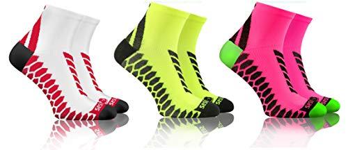 sesto senso Calze Corte Sportive Colorate Jogging Donna Uomo 3-12 Paia Bianco Giallo 35-38 3 Pack Rosa Mix