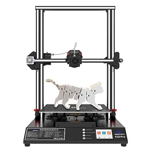 Geeetech A30 Pro Single Extruder Printers, Large Volume 3D Printer with TF Card Standalone Printing Semi-Assembled and 3.2 inch Full Color Touch Screen, Built Volume 320x320x420mm
