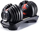 YPC Single 52.5 Lbs Adjustable Dumbbell,Workout Exercise Barbell Gym Equipment Barbell for Men and Women Home Fitness Weight Gym Workout Exercise Training with Connecting Rod (Single)