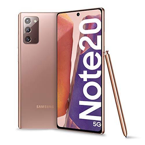 Samsung Galaxy Note20 5G Smartphone, Display 6.7' Super Amoled Plus Fhd+, 3 Fotocamere Posteriori, 256Gb, Ram 8Gb, Batteria 4300 Mah, Dual Sim + Esim, Android 10, Mystic Bronze [Versione Italiana]
