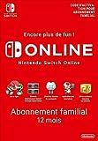 Si vous créez un groupe familial, jusqu'à huit comptes Nintendo peuvent utiliser Nintendo Switch Online en tant que membre de la famille! Jeu en ligne: faites équipe avec vos amis et affrontez des rivaux du monde entier avec des titres Nintendo Switc...