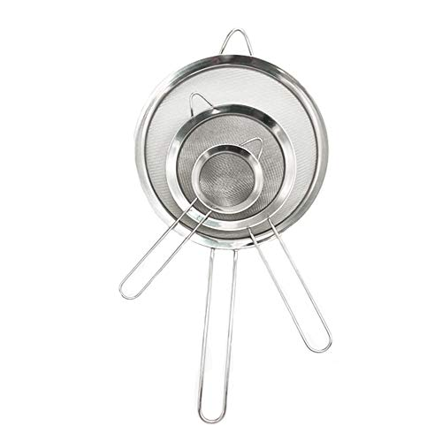 3PCS Stainless Steel Kitchen Fine Mesh Strainers