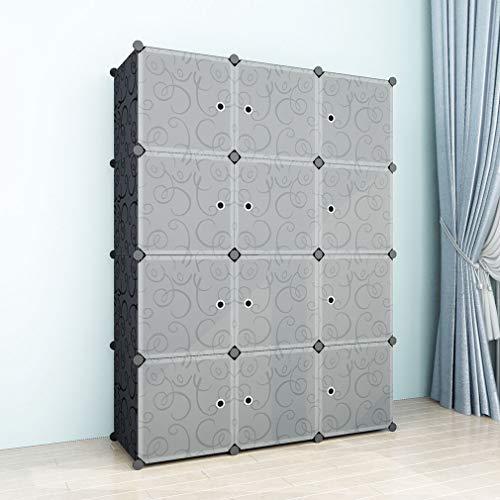 SIMPDIY Semplice Armadio Salva Spazio in Plastica,Molto Ampio e Spazioso 9 Cubi 108x36x144cm...