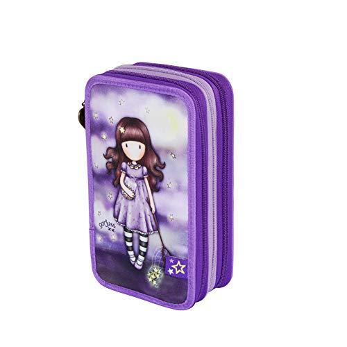 Santoro M057a, Astuccio scolastico, unisex, per bambini, 205 x 125 x 65 mm Viola Size: 205x125x65 mm