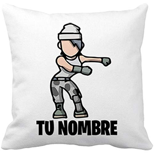 Diver Bebé Cojín con Relleno Pose Floss Baile Backpack Kid Personalizable con Nombre - Blanco, 35 x 35 cm