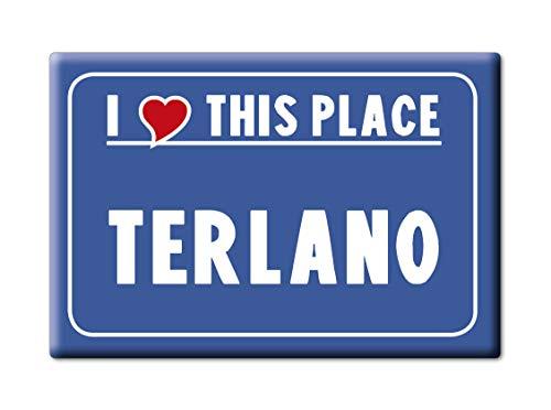 Enjoymagnets TERLANO CALAMITA Magnete Trentino Alto Adige (BZ) Fridge Magnet Souvenir Love (VAR. Cartello)