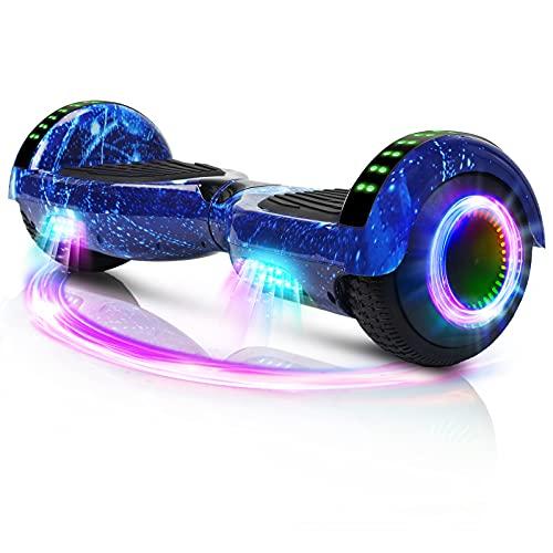 Hoverboard, 6,5 'Auto-équilibrage Scooter Overboard avec Roues Bluetooth Haut-Parleur lumières LED pour Enfants Adultes (Étoile Bleue)