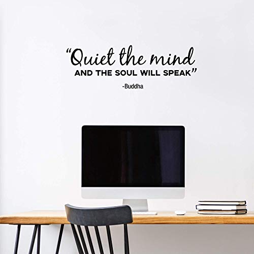 Vinyl Wall Art Decal - Quiet The Mind and The Soul Will Speak - 10
