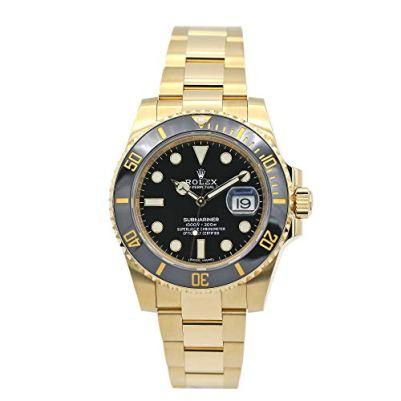 Rolex Submariner Yellow Gold Watch Black Dial Watch 116618