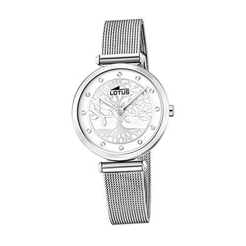 Lotus Damen Analog Quarz Uhr mit Edelstahl Armband 18708/1