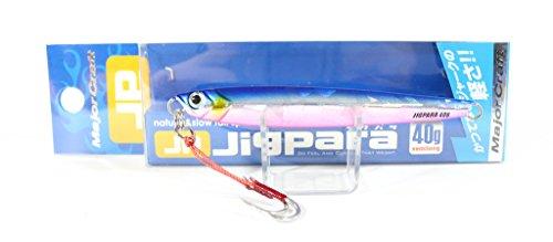 メジャークラフト ルアー メタルジグ ジグパラ セミロング 60g #4 ブルーピンク JPSL-60