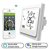 Thermostat WiFi pour chaudière gaz/eau,Thermostat intelligent Écran LCD...