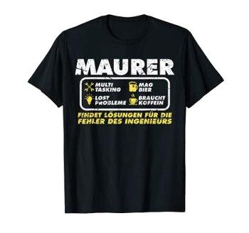 Maurer Maçon couvreur T-Shirt