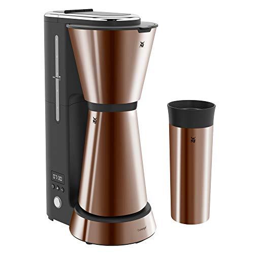 WMF Küchenminis Aroma Kaffeemaschine mit Thermoskanne (870 Watt, Filterkaffee 5 Tassen, Thermobecher to go (350ml), 24 Stunden-Timer, Abschaltautomatik) cromargan matt/kupfer