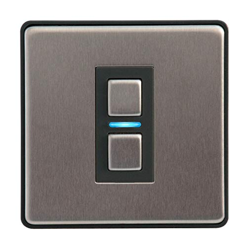 1 Gang Stainless Steel Smart Dimmer Switch - Works with Apple HomeKit, Amazon Alexa and Google Assistant
