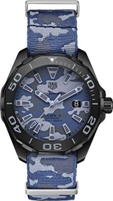 Tag Heuer Aquaracer Blue Camouflage Dial Automatic Mens Watch WAY208D.FC8221