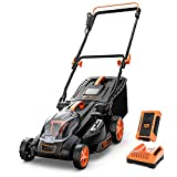 Cordless Lawn Mower, 40V Max 4.0Ah Battery, 16-Inch Brushless Lawn Mower, 50L Grass Box & Mulcher, 6 Mowing Heights, 3 Operation Heights, Low Noise, KDLM4040A