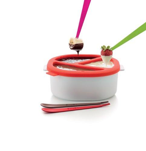 Lékué 0200265R10M017 - Contenitore per fonduta di Cioccolato al microonde, in plastica