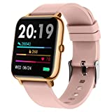 Smart Watch, Popglory Smartwatch with Blood Pressure, Blood Oxygen Monitor, Fitness Tracker with...
