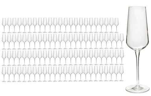 Set di 96/colore champagne/spumante bicchieri per champagne flauto inAlto in qualità cristallo, migliore resistenza rottura, elegante Design