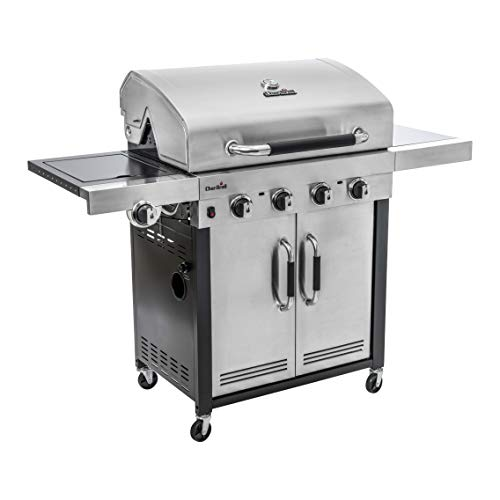 Char-Broil Advantage Series™ 445S - Barbecue in acciaio inox a 4 bruciatori con bruciatore...