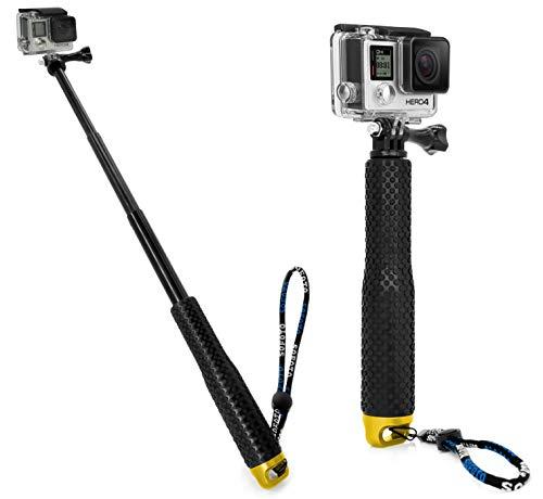 MyGadget Selfie Stick Waterproof x Action Camera - Hand Grip Telescopico - Asta Allungabile Bastone Selfie per GoPro Hero 8 7 6 Xiaomi Yi 4k - Oro